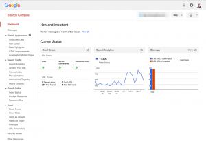 Search Console, part of the free Google Marketing Stack