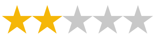 2/5 Star Review Rating