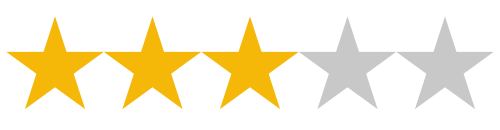 3/5 Star Review Rating