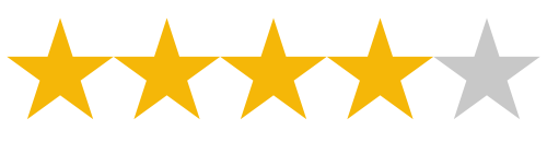 4/5 Star Review Rating