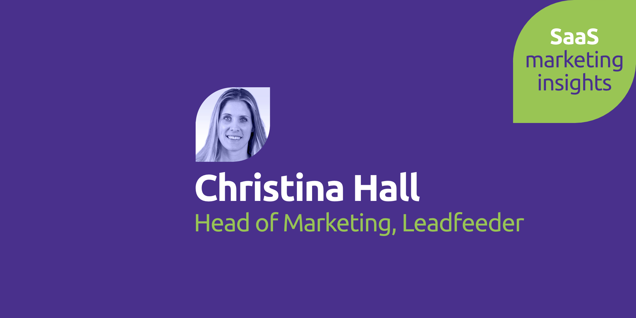 Christina Hall, Leadfeeder