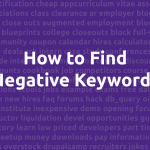 How to find negative keywords